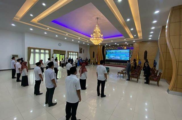 Suasana Acara Pelantikan Pengangkatan Jabatan Struktural Perumdam Tirta Kencana.