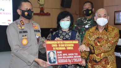 Photo of Polda Sumsel Terima Bantuan Dana Untuk Penanganan Covid – 19, Sebesar Rp 2 Triliun Dari Pengusaha Sukses Asal Aceh